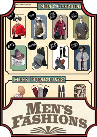 Victorian Clothes, 1800 Clothes, Victorian Era Clothing, 1800 Clothing, Old West Mercantile, River Junction
