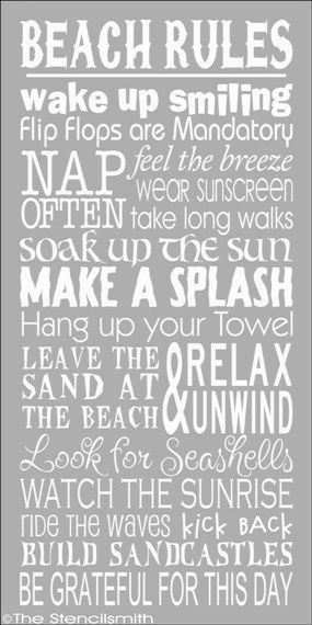 Beach Rules: Flip Flops, Sun Screen, and don't forget to grab a board! Only Real Rule: relax ! #beachsignsvacations