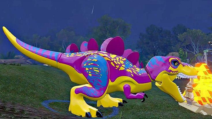 Мир Юрского Периода.Мощные Динозавры.Игры Мультики про Динозавров.Lego J...