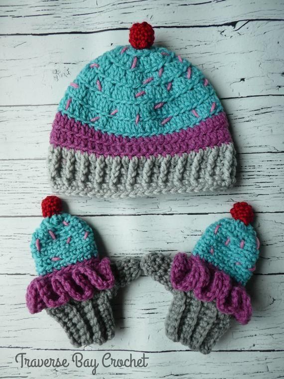 4b6430b51b1 Toddler crochet cupcake hat beanie Easy PDF Instant Download Gift Present  Baby Shower
