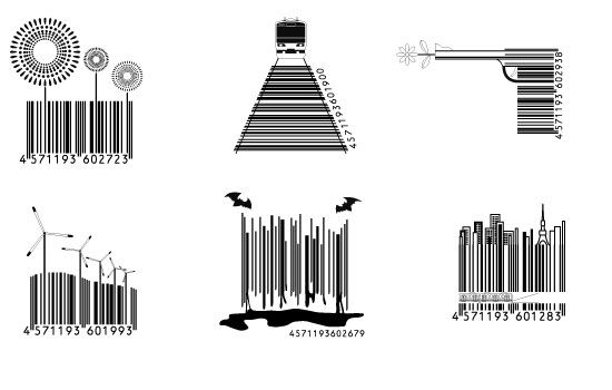 In Japan, Even the Barcodes Are Well Designed    soooo - c'mon america, get with the program. i want to see cool barcodes.