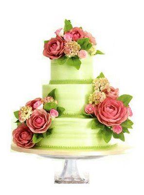 Green cake47 best Fresh Flower Cakes images on Pinterest   Flower cakes  . Fresh Flower Wedding Cakes. Home Design Ideas