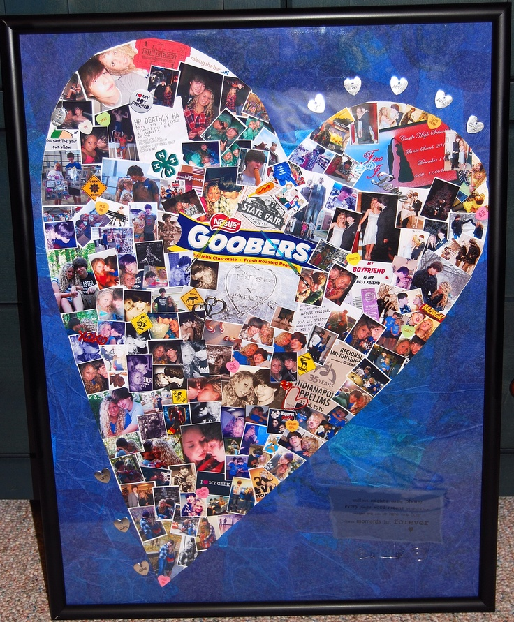 a photo collage i made for my boyfriend for christmas 2010 it had photos and