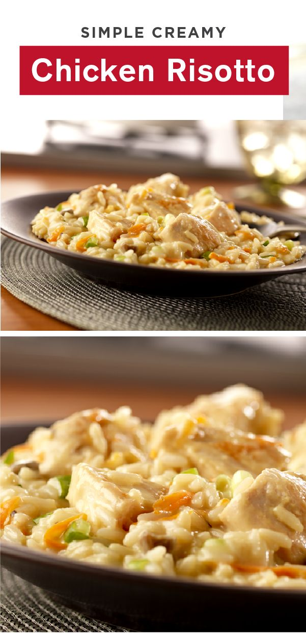 This main-dish risotto recipe is chock full of chicken, carrots, and green onion. Making this Simple Creamy Chicken Risotto a delicious addition to your dinner table any night of the week.