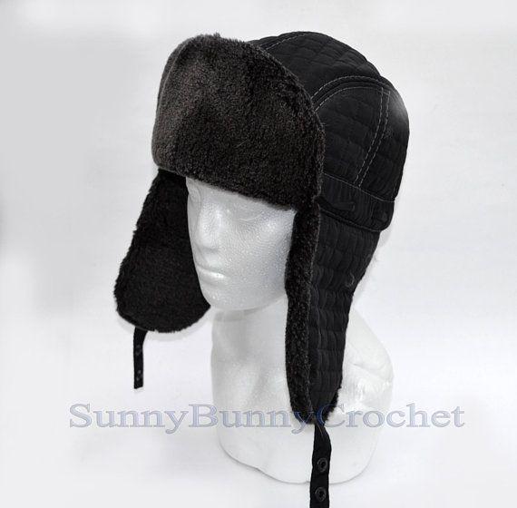 By Order Faux Fur Ear Flap Hat Men Real Fur Hat Trapper Hat Etsy Ear Flap Hats Trapper Hats Fur Hat