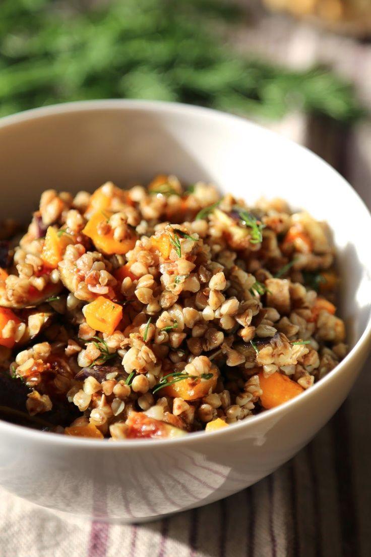 Salade végétarienne de sarrasin aux saveurs d'automne : courge butternut, figues , noisettes , aneth | On Dine chez Nanou