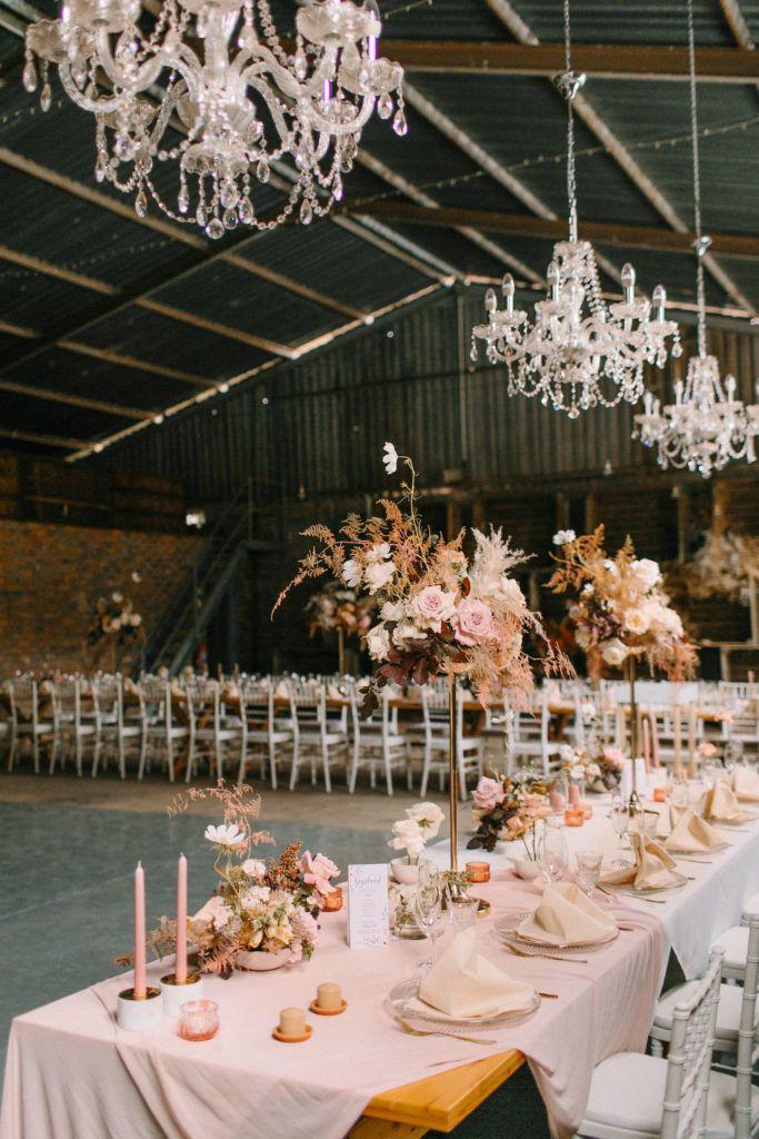Marize Francis Elim Venue Wedding Reception Flowers Wedding Table Cosmos Flowers
