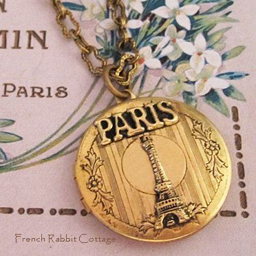 EIFFEL TOWER NECKLACE Locket.Paris by FrenchRabbitCottage1 on Etsy