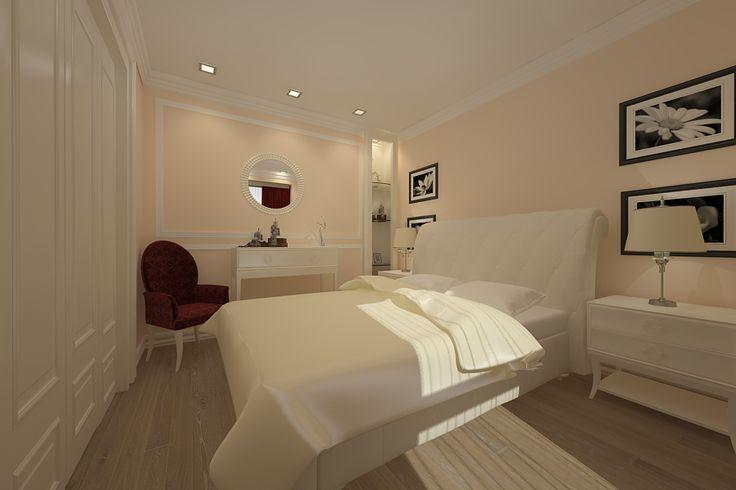 Portofoliu proiect design interior dormitor apartament Constanta.