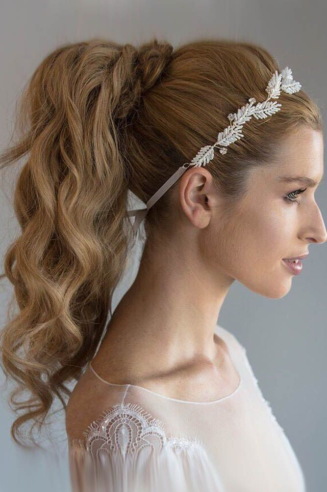 Bridal Hairstyles 24 Party Perfect Pony Tail Hairstyles For Your Big Day Pony Tail Hairstyles Tail Hairstyle Ponytail Hairstyles Hair Styles