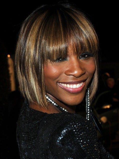 Serena Williams | Serena Williams brightened-up her bob with blonde highlights. Ask your colorist for thin highlights in a cool champagne shade to get this same contrast.Photo Credit: Getty Images, courtesy of iVillage via @stylelist