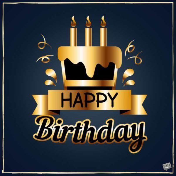 Happy Birthday / joyeux anniversaire / bon anniversaire / gateau / or / bougies /