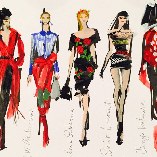 Donald Robertson @drawbertson @voguekorea paint...Instagram photo | Websta (Webstagram)