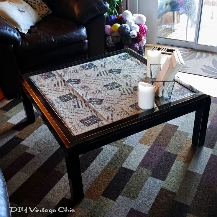 DIY+Upcycled+Coffee+Table