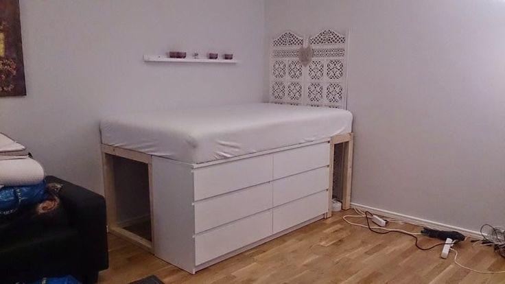 Syrran kallar mig Tussen: Bygga säng med förvaring under.