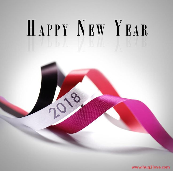 happy new year 2018 background hd picture with ribbon