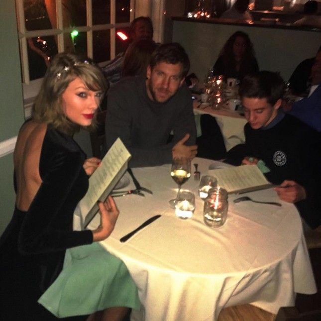 How jealous are you of this kid that crashed Taylor Swift + Calvin Harris' dinner date?!