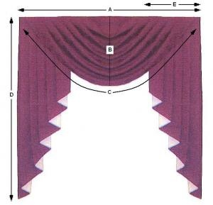 Swag window treatment pattern and instructions
