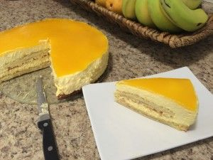 Delicious Fresh Mango Mousse Cake. Mango is nature's candy. Let's turn it into a delicious rich yet light dessert!