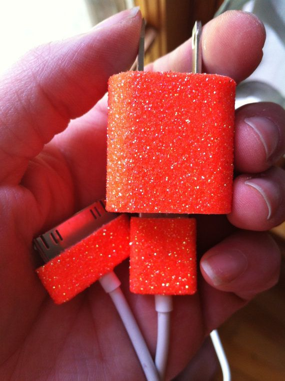 iPhone Charger customized glitter charger by glitzznglam on Etsy, $15.00
