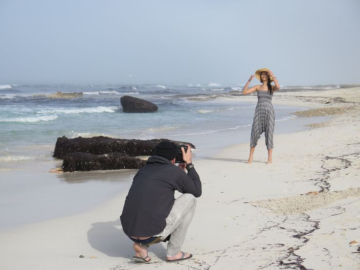 Behind the scenes at a Bright M Productions shoot on Es Trenc beach in Mallorca