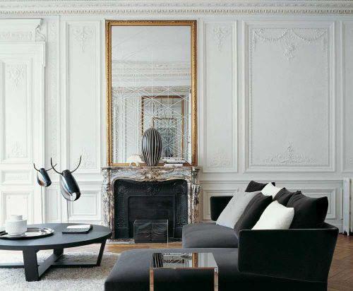 White painted period features  거실  Pinterest  거실