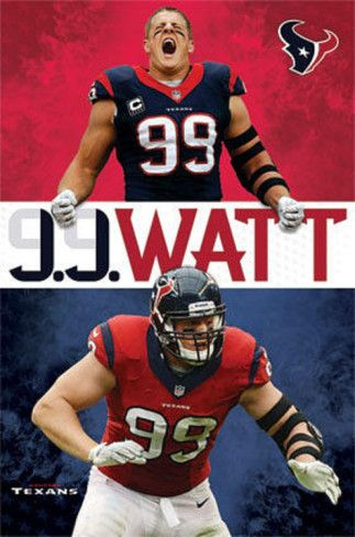 JJ Watt Houston Texans Football Poster Print at AllPosters.com
