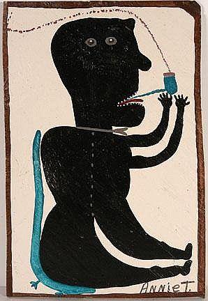 Moses Tolliver (1918-2006) was een gehandicapte afro- Amerikaanse volksartist. In de late jaren zestig, na een ernstig letsel ging hij schilderen om verveling bestrijden. Tolliver was zelfonderwezen en hij schilderde veel zelfportretten met krukken. Watermeloenen en vogels waren ook bekende thema's. Tolliver's thema's werden getrokken uit zijn eigen ervaring.