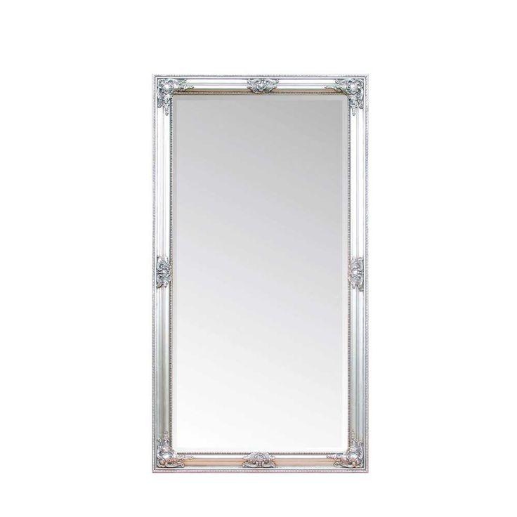 Luxury Barock Wandspiegel Bino in Silber mit Rahmen