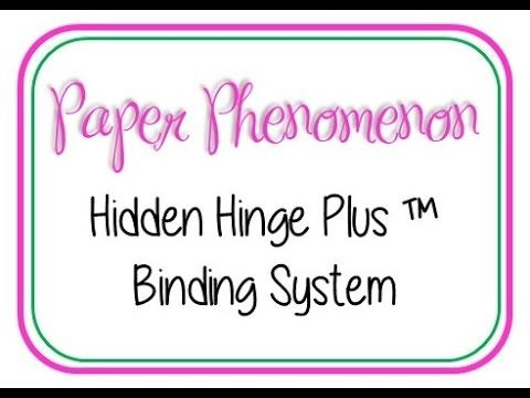 Hidden Hinge Plus (TM) Binding System - by Kathy Orta, Paper Phenomenon.  Detailed tutorial of her new binding system, yay! Note: I believe you need a license to use it as she now has a patent...