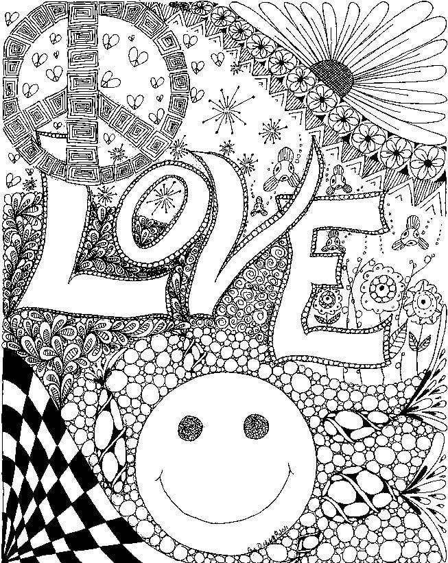 318 best TrippyPsychedelic Coloring Pages images on Pinterest