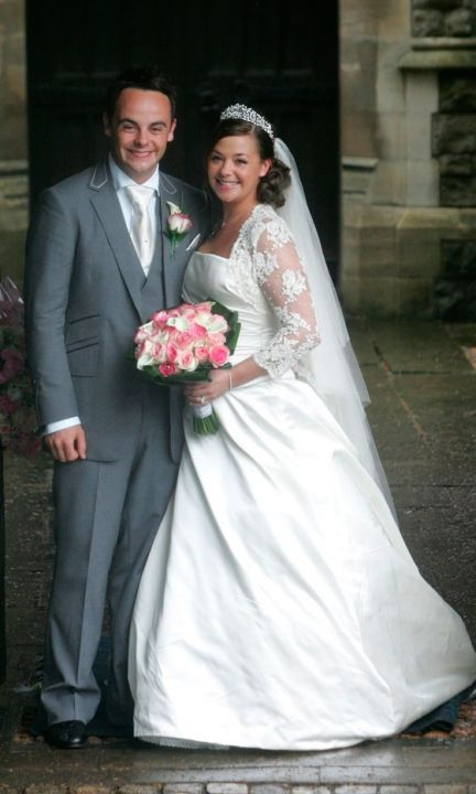Where's Dec? Lisa Armstrong At Her Wedding To Ant McPartlin, July 2006