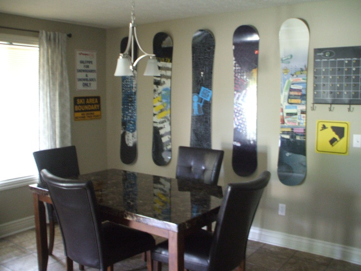 snowboard wall decor on my wall skiing