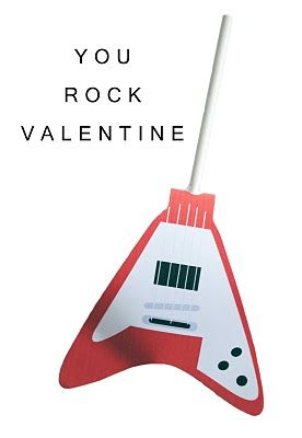 electric guitar free printables to wrap around heart shaped suckers.