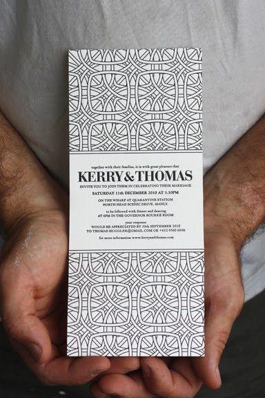 Black And White Wedding Invites : Bespoke Press   Invitation Crush