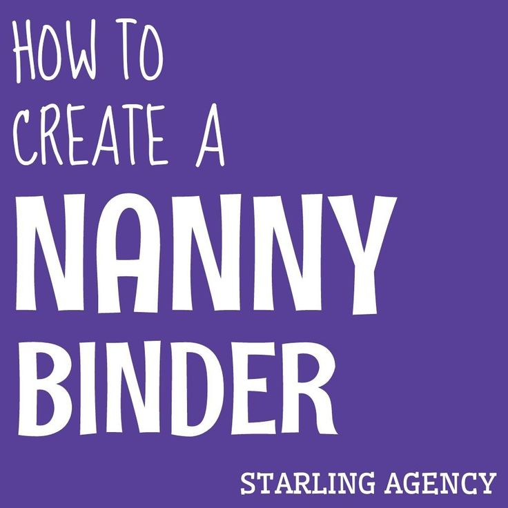 How to create a nanny binder to help keep you organized. From emergency contacts to crafts. Here are some free printables to help you get started.