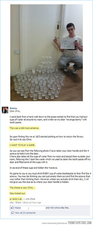 This guy deserves some kind of award. Do we give awards for clever revenge? We dont? We need to do something about this. cheap Pranks at http://www.anrdoezrs.net/click-5388345-10486006