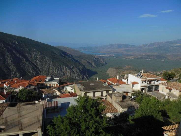 Overlooking Delphi from the balcony of Hotel Arion