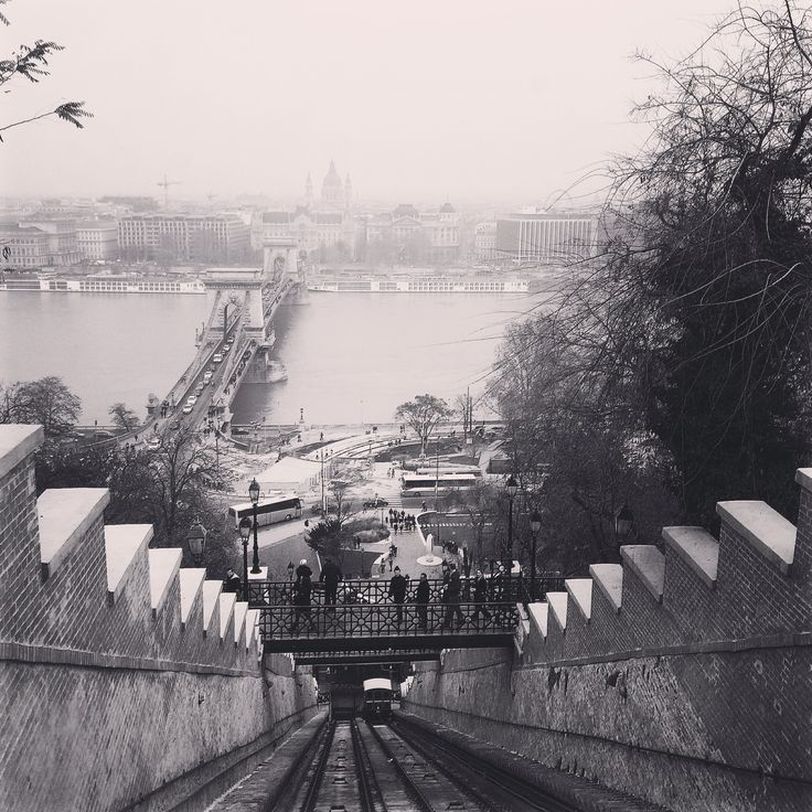 View from funicular tram, Budapest, Hungary