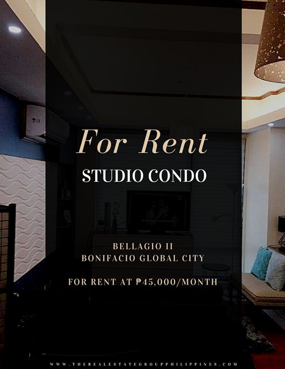For Rent  Studio Condominium - Bellagio Two Fully Furnished 43sqm 45000/Month No parking  http://ift.tt/2t4s5Kl