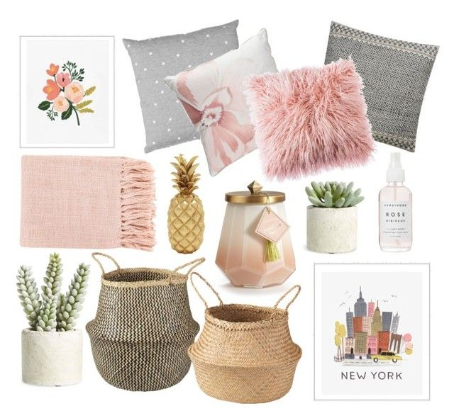 Rose Coloured Glasses by rowanmorrissy4 on Polyvore featuring interior, interiors, interior design, home, home decor, interior decorating, Surya, Biltmore, Rifle Paper Co and Allstate Floral