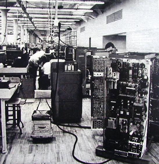 IBM 604 Computer Assembly Line (1948).