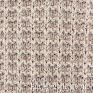 Square Stitch Pattern of Loop Stitches