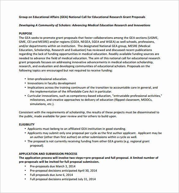 Grant Proposal Sample Pdf Inspirational Grant Proposal Template 19 Free Sample Example Format Grant Proposal Research Grants Proposal Templates