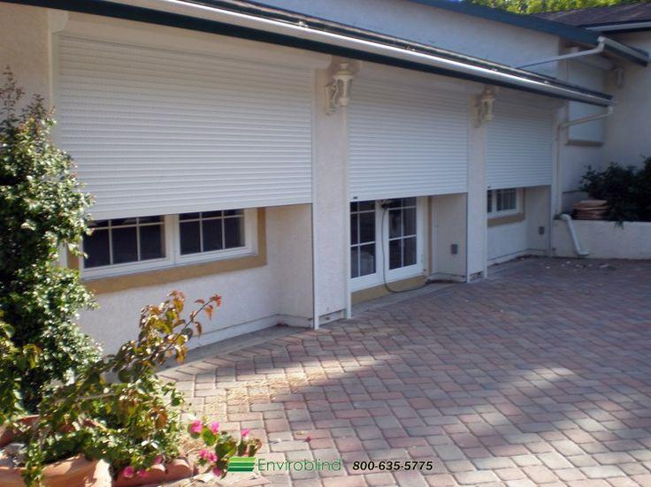 Enviroblind residential rolling security shutters.