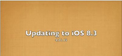 Updating to iOS 8.3 - Happy days are here again! Students have been cleared to complete a long overdue update for their iPads. Our local servers cache the update to help our iPads update quicker. To see how to update your student iPad please view the short video on our site and make your iPad happy! April 2015
