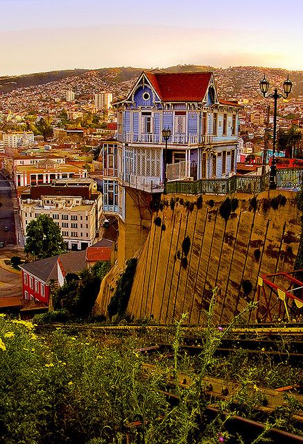 Valparaiso, Chile. Went once for a day in high school but would love to go back for longer...