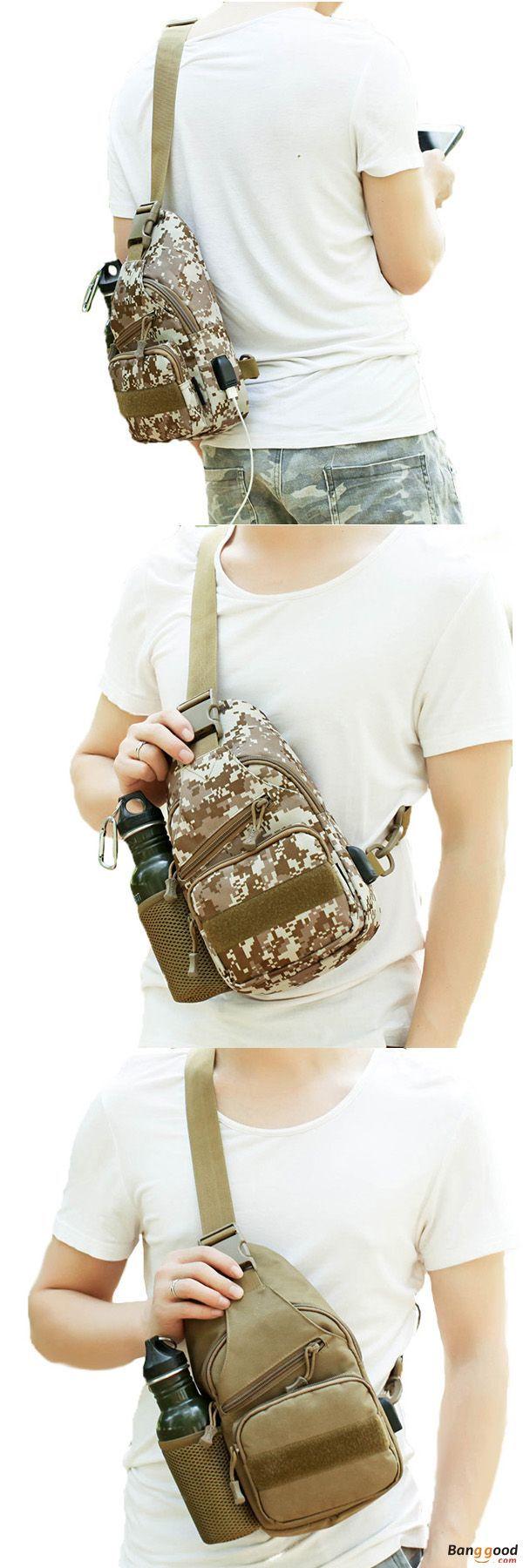 US$18.52 + Free shipping. Men Bag, Nylon Bag, Outdoor Bag, Sport Bag, Hiking Bag, Bag with USB Charging Port, Tactical Bag, Chest Bag, Crossbody Bag. Color: Khaki, Desert, Sand Camo, Jungle, Acu, Black. Get prepared! #JungleSurvivalShelter