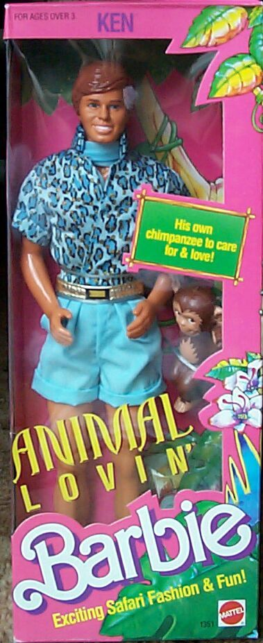 Barbie - Animal Lovin' Ken, 1988 (I have the original one with complete accessoires, it is now reproduced for Toy Story xD )