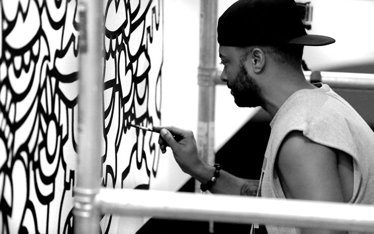 #oibel #oibelart #sam #wallpaint #happyfaces #interiordesign #lovelife #loveart #streetart #graffiti #art #tribal #monochrome #mural #office #interiordesign #zurich #studioforma